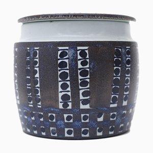 Tender Vase mit Deckel von Kari Christensen für Royal Copenhagen Aluminia, 1960er
