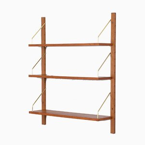 Mid-Century Hanging Teak Shelves by Poul Cadovius, 1960s, Set of 3