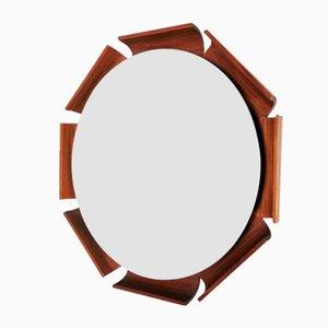 Backlit Teak Mirror by Isa Bergamo, 1960s