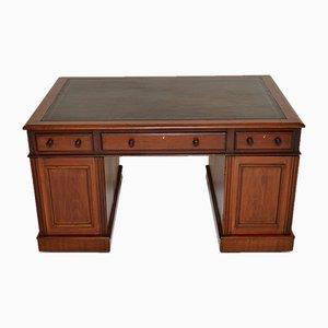 Viktorianischer Schreibtisch mit Lederplatte