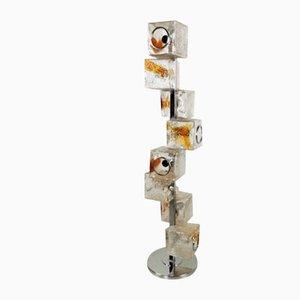 Lámpara de pie de cristal de Murano de Toni Sugars para Veart, años 70