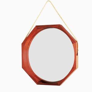 Octagonal Teak Mirror, 1950s