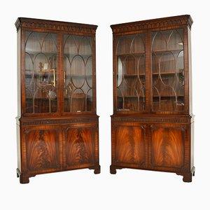 Antique Georgian Style Bookcases, Set of 2