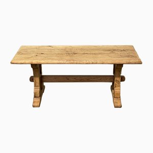 Table Basse Rustique en Chêne Blanchi, France