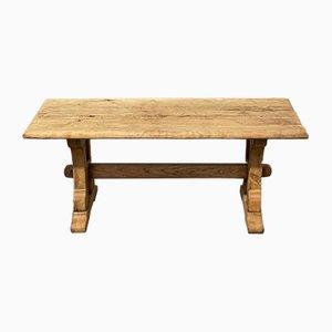 Tavolino da caffè rustico in legno di quercia sbiancato