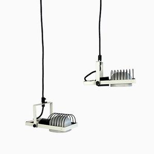 Cable Pendant Lights by Gismondi for Artemide, Italy, 1980s, Set of 2