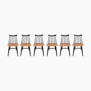 Swedish Fanett Chairs by Ilmari Tapiovaara for Edsby Verken, 1950s, Set of 6