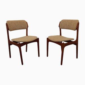 Chaises de Salle à Manger en Teck par Erik Buch, 1960s, Set de 2
