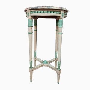 Louis XVI Saddle Pedestal in Lacquered Wood, 1900s