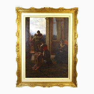 F. Danieli, At the Window, década de 1890, óleo sobre lienzo