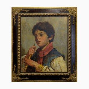 Nicola Del Basso, Ritratto di fanciullo, Oil on Canvas