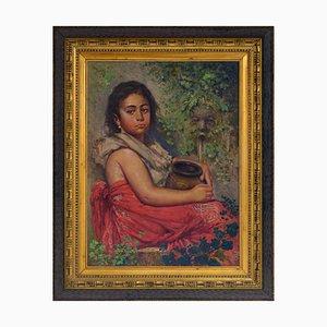 Giovanni Faliero, Ritratto di fanciulla, Oil on Canvas