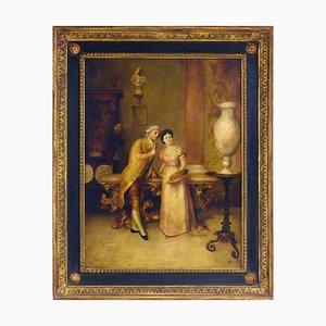 Roberto De Filippi, La Decoratrice, Oil on Canvas