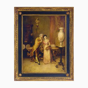 Roberto De Filippi, La Decoratrice, Olio su tela