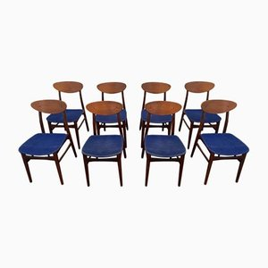 Teak Chairs, Denmark, 1960s, Set of 8