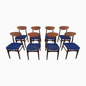 Teak Stühle, Dänemark, 1960er, 8er Set