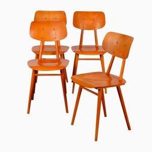 Holzstühle von Ton, 1960, 4er Set
