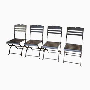 Chaises Pliantes en Métal, 1950s, Set de 4