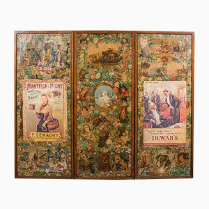 Antiker englischer viktorianischer Raumteiler, 1860
