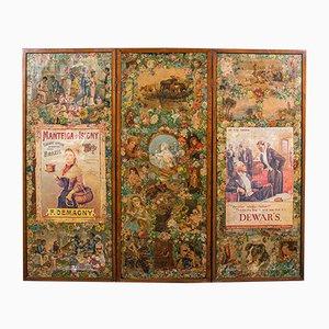 Paravent Victorien Antique, Angleterre, 1860