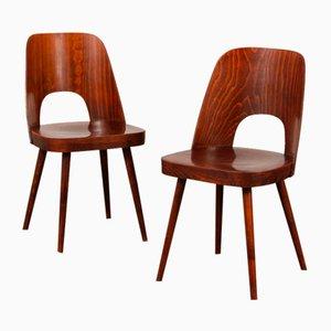 Stühle von Oswald Herdtl für Ton, 1960, 2er Set