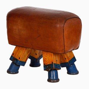 Taburete o caballo de cuero, años 30
