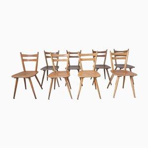 Scandinavian 2-Color Bistro Chairs, Set of 8