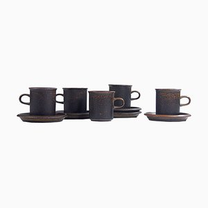 Ruska Cups from Ulla Procope, Finland, 1970s, Set of 5