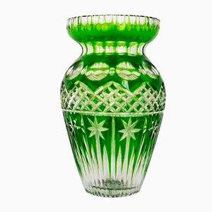 Grüne Kristallvase