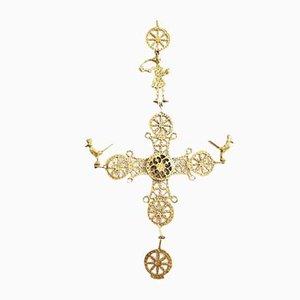 Crucifix en Or, Début 20ème Siècle