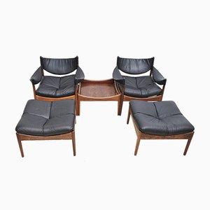 Set da salotto in palissandro brasiliano di Kristian Vedel per Søren Willadsen Møbelfabrik, set di 5