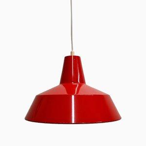 Workshop Pendant in Red Enamel by Louis Poulsen