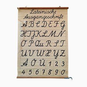Tarjeta escolar Mid-Century de Friedrich Gutsch, años 50