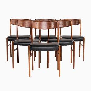 Dänische Mid-Century Esszimmerstühle aus Teak von Glyngøre Stolefabrik, 1960er, 6er Set