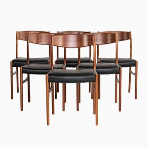 Danish Dining Chairs in Teak from Glyngøre Stolefabrik, 1960s, Set of 6