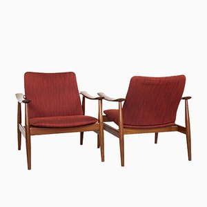 Mid-Century Danish Model 138 Easy Chair by Finn Juhl for France & Søn