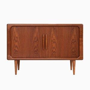 Mobiletto stereo Mid-Century in teak di Dyrlund, Danimarca, anni '60