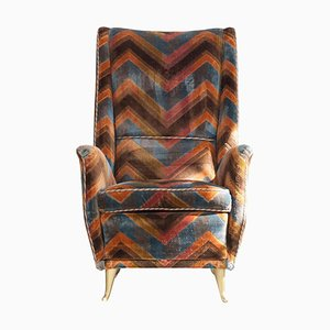 Wing Chair by I. S. A. Bergamo, Italy, 1950s