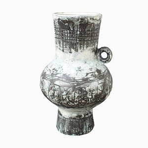 French Ceramic Vase by Jacques Blin with Jean Rustin, 1960s