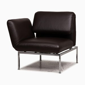 Roro Black Leather Lounge Chair from Brühl & Sippold