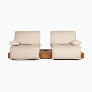 Free Motion Cream Fabric 2-Seater Sofa from Koinor