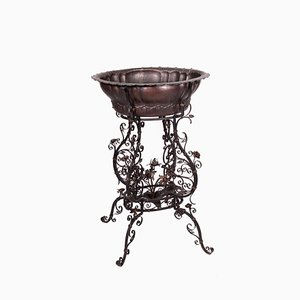 Wrought Iron Stand with Basin