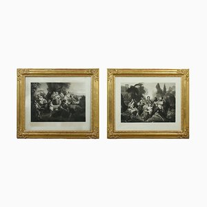 Paintings, Mid-19th-Century, Framed, Set of 2