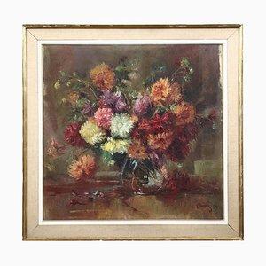 Luigi Bini, Still Life Painting, Oil on Canvas, Framed