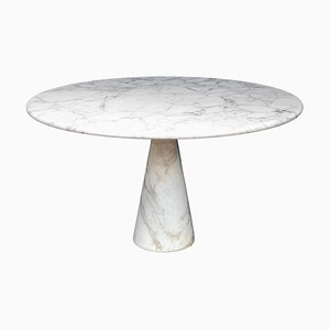 M1 Table in White Marble Calacatta by Angelo Mangiarotti Pour Skipper, 1970s