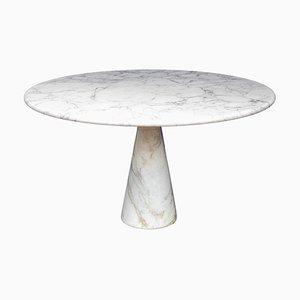 Tavolo M1 in marmo bianco Calacatta di Angelo Mangiarotti Pour Skipper, anni '70