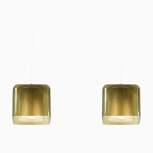 Pendant Lamps by Carl Fagerlund for Orrefors, 1960s, Set of 2