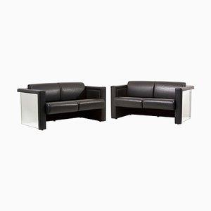 Sofá de dos plazas de Trix & Robert Haussmann para Knoll, años 80. Juego de 2