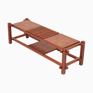 Wooden Bench or Shelf, Italy, 1960s
