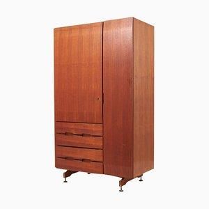 Mueble de madera con tres cajones, años 50